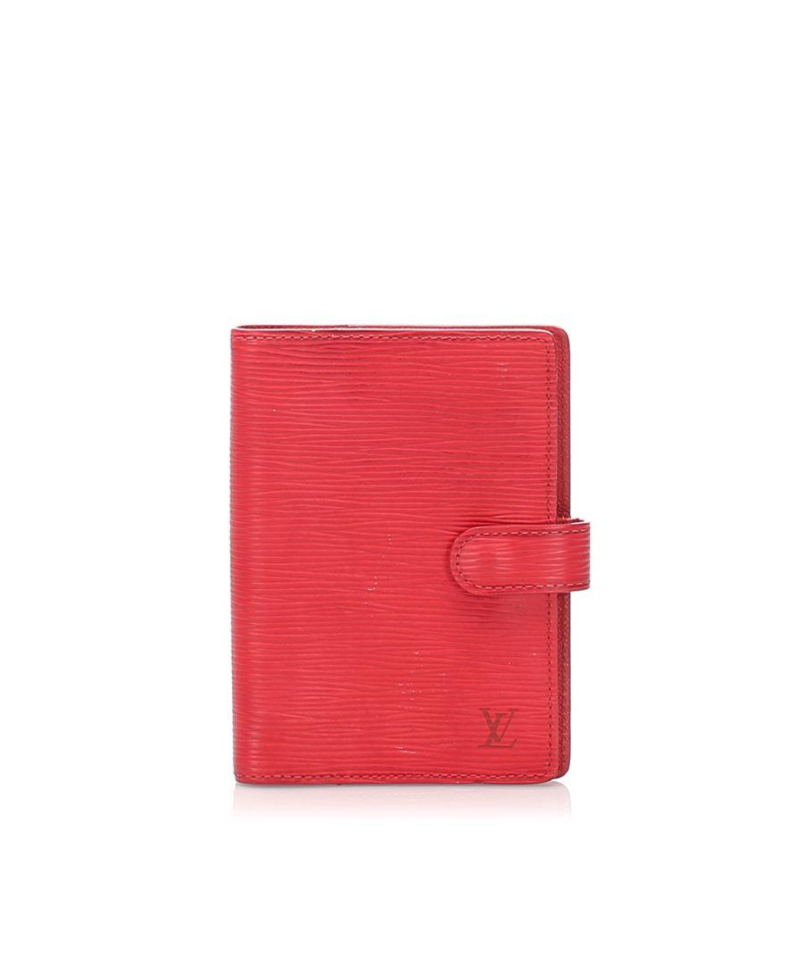 Image for Vintage Louis Vuitton Epi Agenda Red