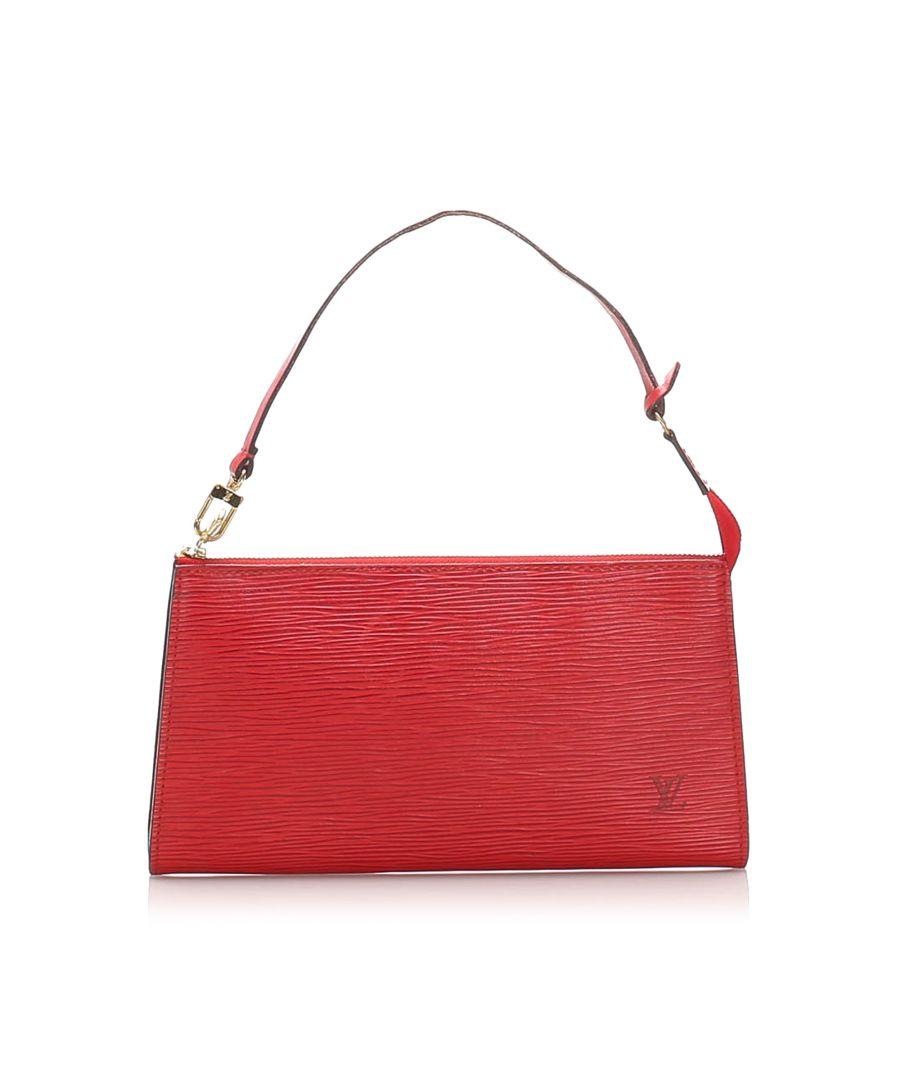 Image for Vintage Louis Vuitton Epi Pochette Accessoires Red