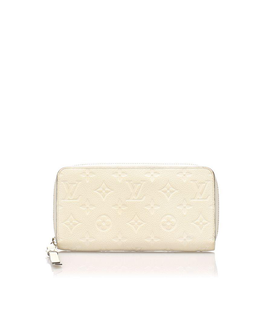 Image for Vintage Louis Vuitton Monogram Empreinte Zippy Wallet White