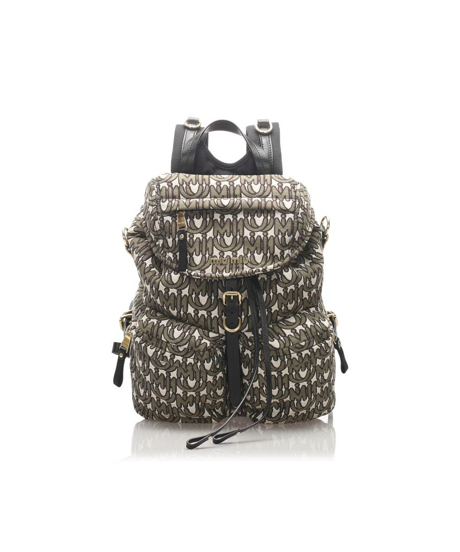 Image for Vintage Miu Miu Canvas Backpack Gray