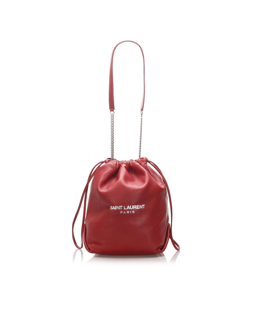 Image for Vintage YSL Teddy Bucket Bag Red