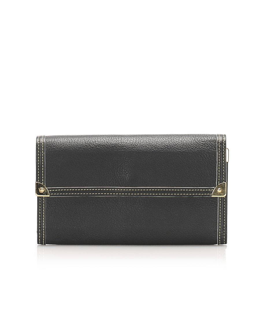 Image for Vintage Louis Vuitton Suhali Porte Tresor International Wallet Black