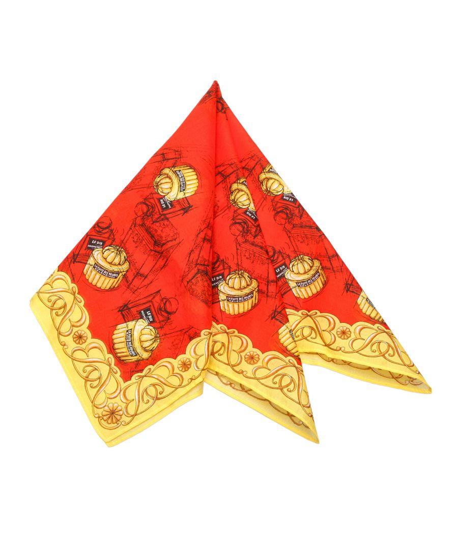 Image for Vintage Balenciaga Printed Silk Scarf Red
