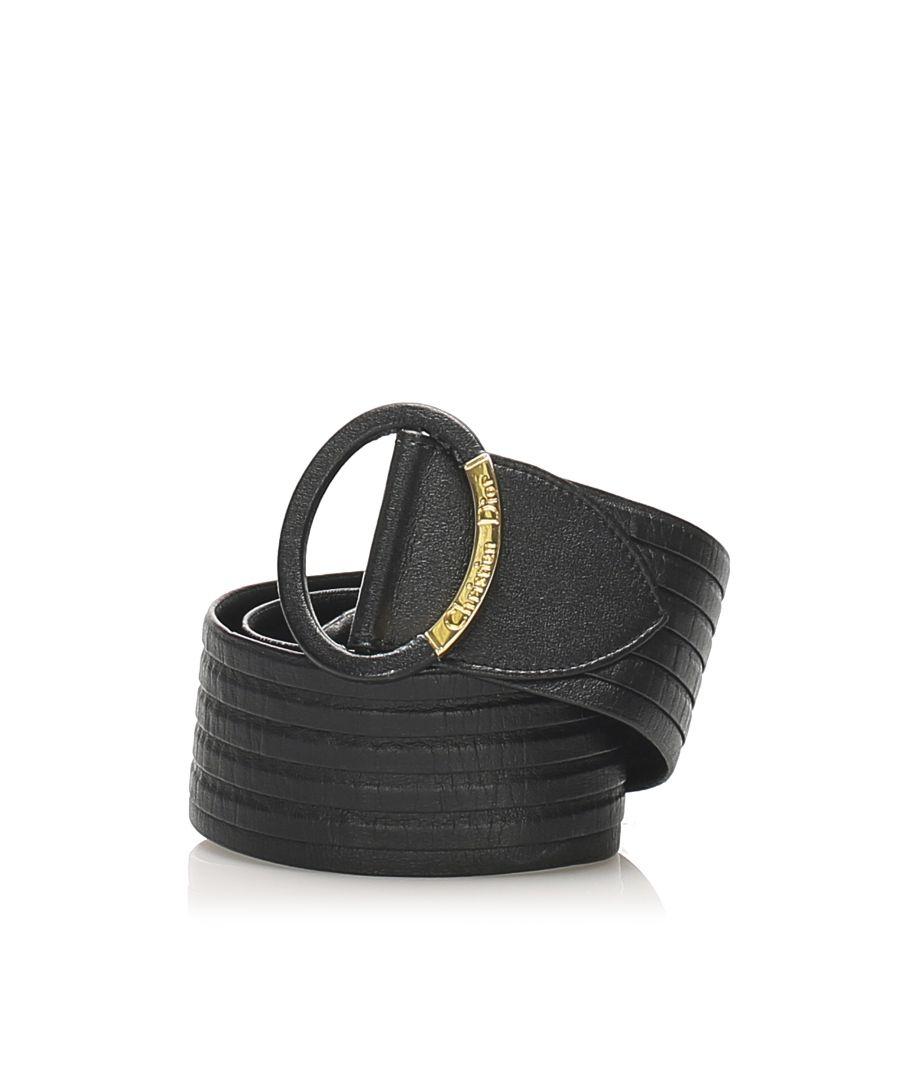 Image for Vintage Dior Leather Belt Black