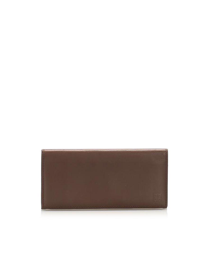 Image for Vintage Givenchy Leather Card Holder Brown