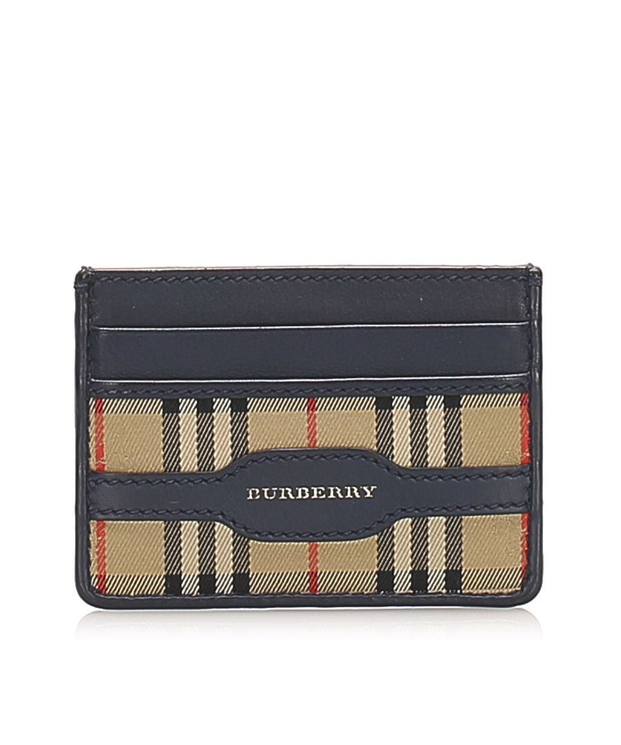 Image for Vintage Burberry House Check Canvas Coin Pouch Brown