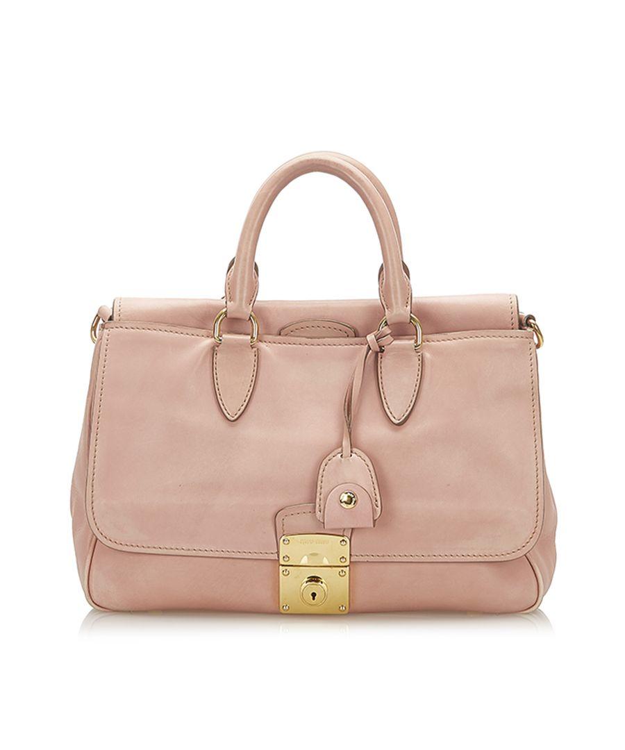 Image for Vintage Miu Miu Leather Satchel Pink