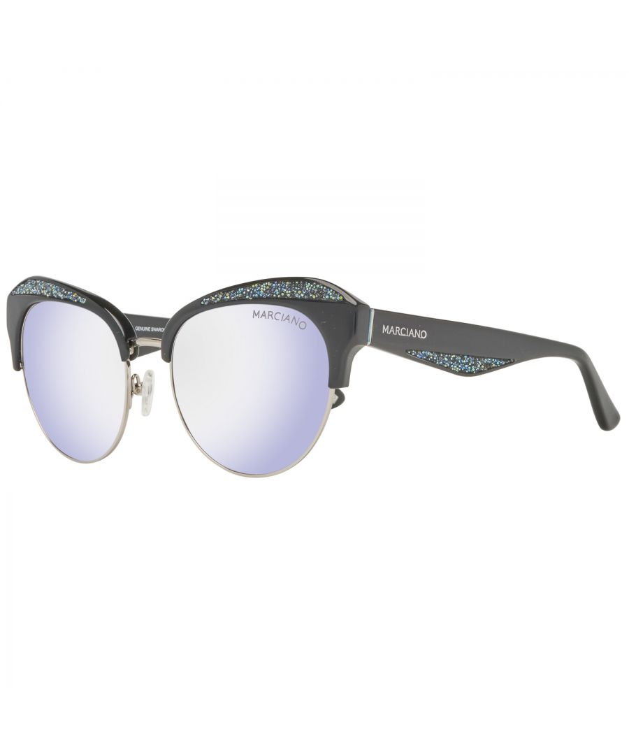 Image for Guess by Marciano Sunglasses GM0777 01C 55 Women Silver