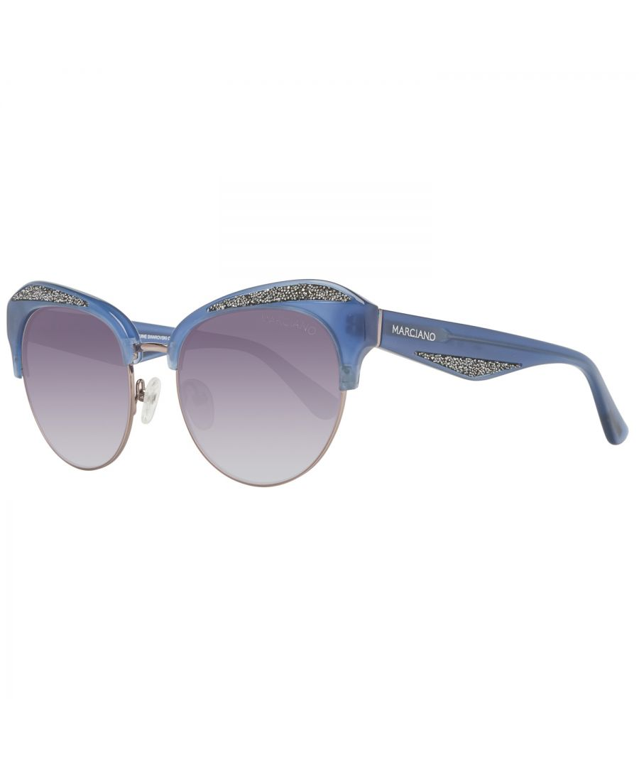 Image for Guess by Marciano Sunglasses GM0777 90B 55 Women Silver