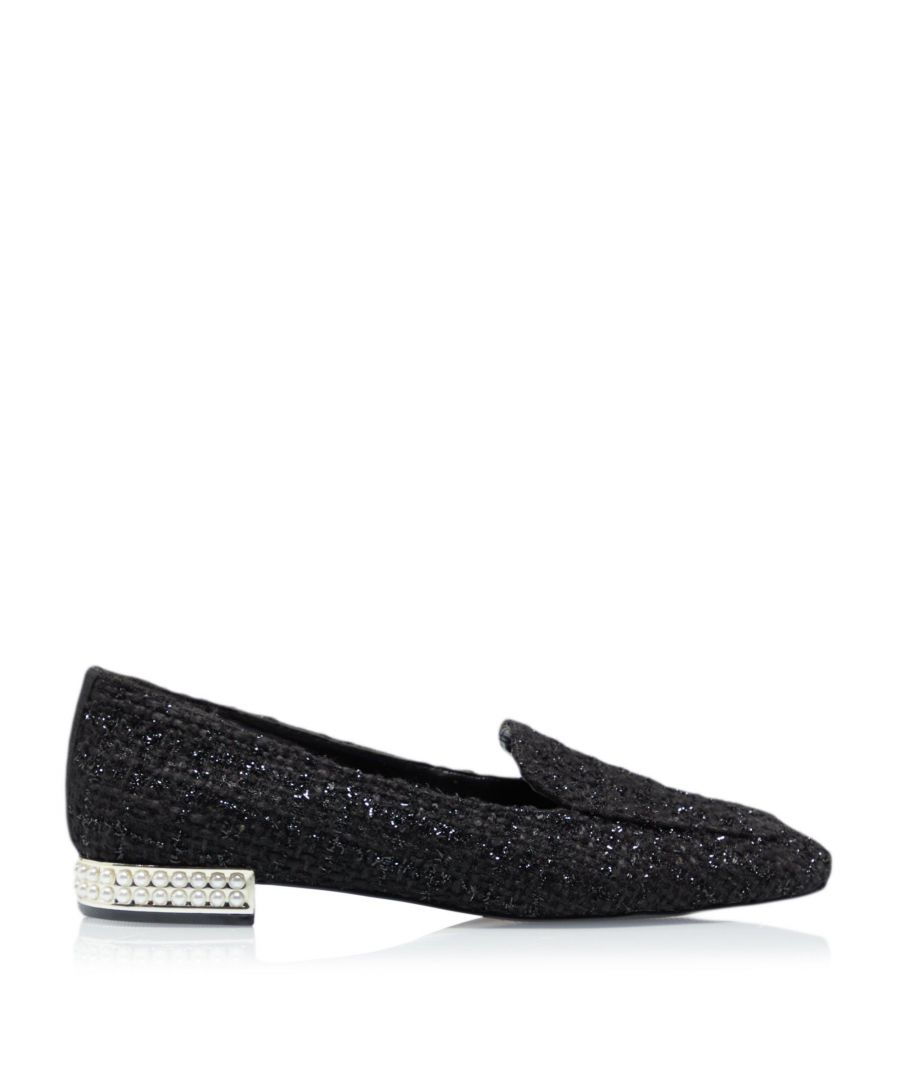 Image for Dune Ladies GRACELYNNE Pearl Heeled Square Toe Loafers
