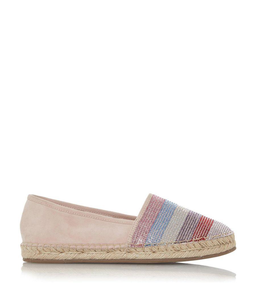 Image for Dune Ladies GRACI Diamante Toe Cap Espadrille Shoes