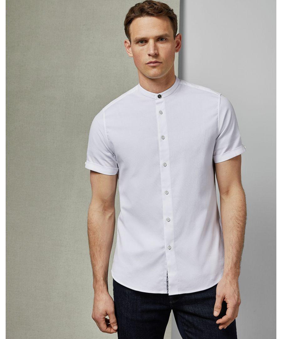 Image for Ted Baker Grancol Grandad Collar Shirt, White