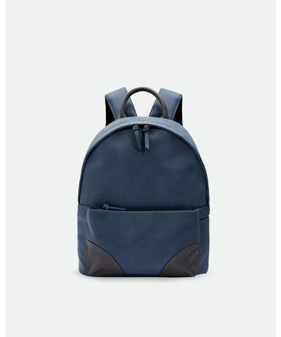 Image for Ted Baker Graveet Nubuck Pu Backpack, Blue