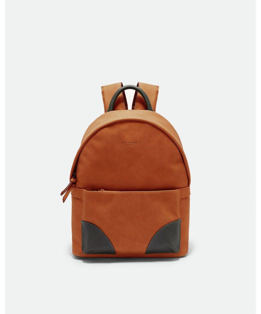 Image for Ted Baker Graveet Nubuck Pu Backpack, Orange