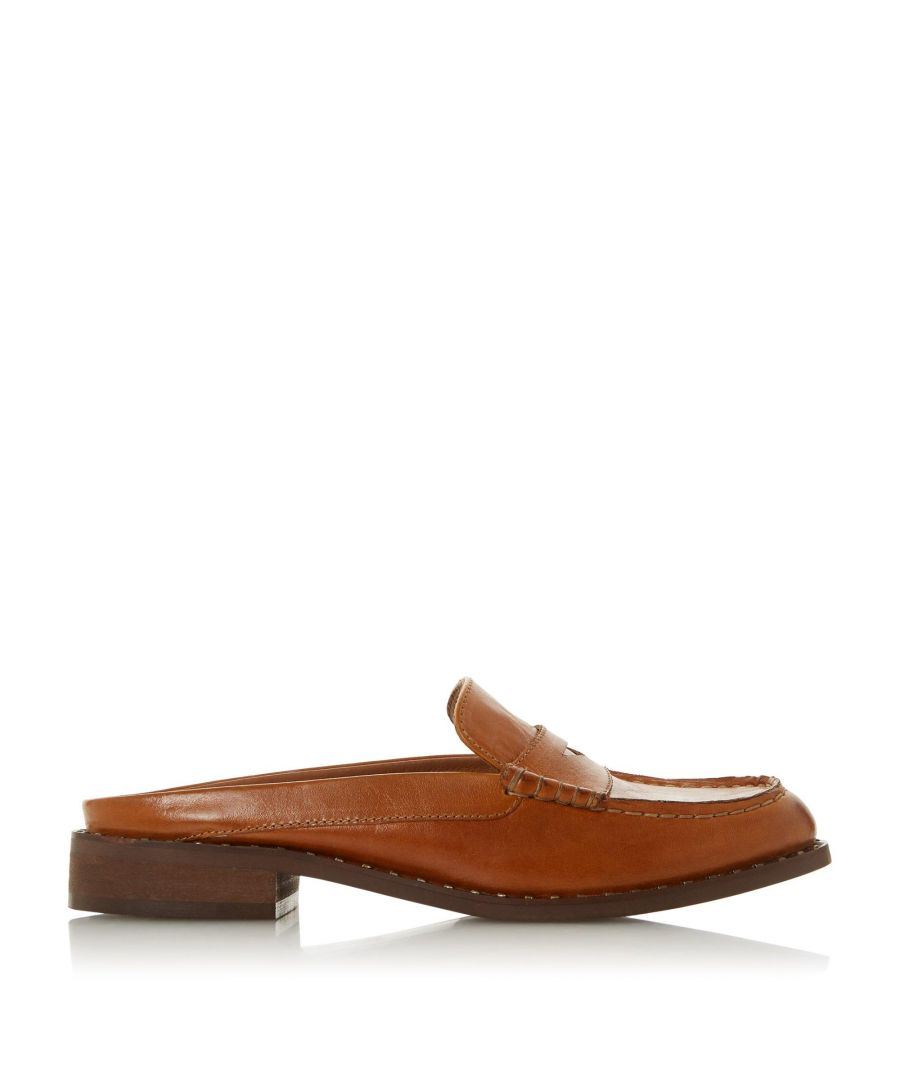 Image for Bertie Ladies GREENLAND Leather Mule Loafer
