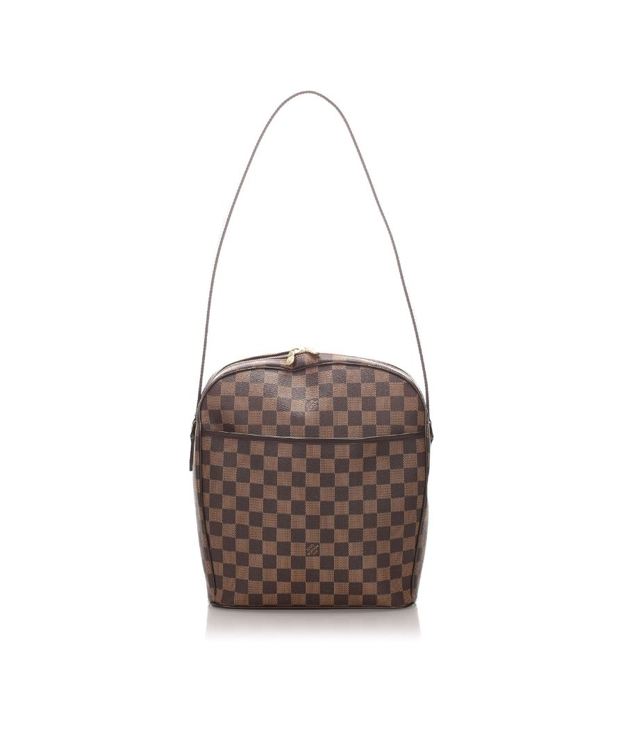 Image for Vintage Louis Vuitton Damier Ebene Ipanema GM Brown