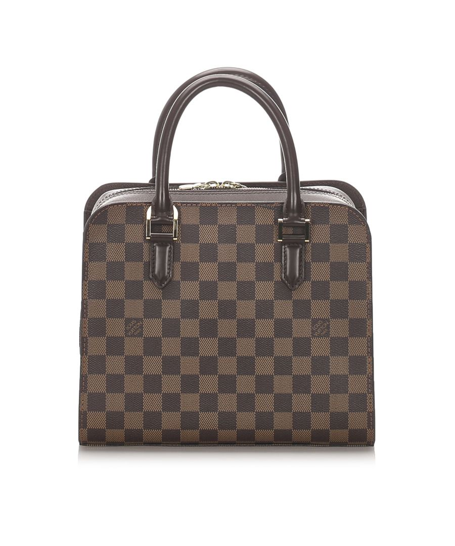 Image for Vintage Louis Vuitton Damier Ebene Triana Brown