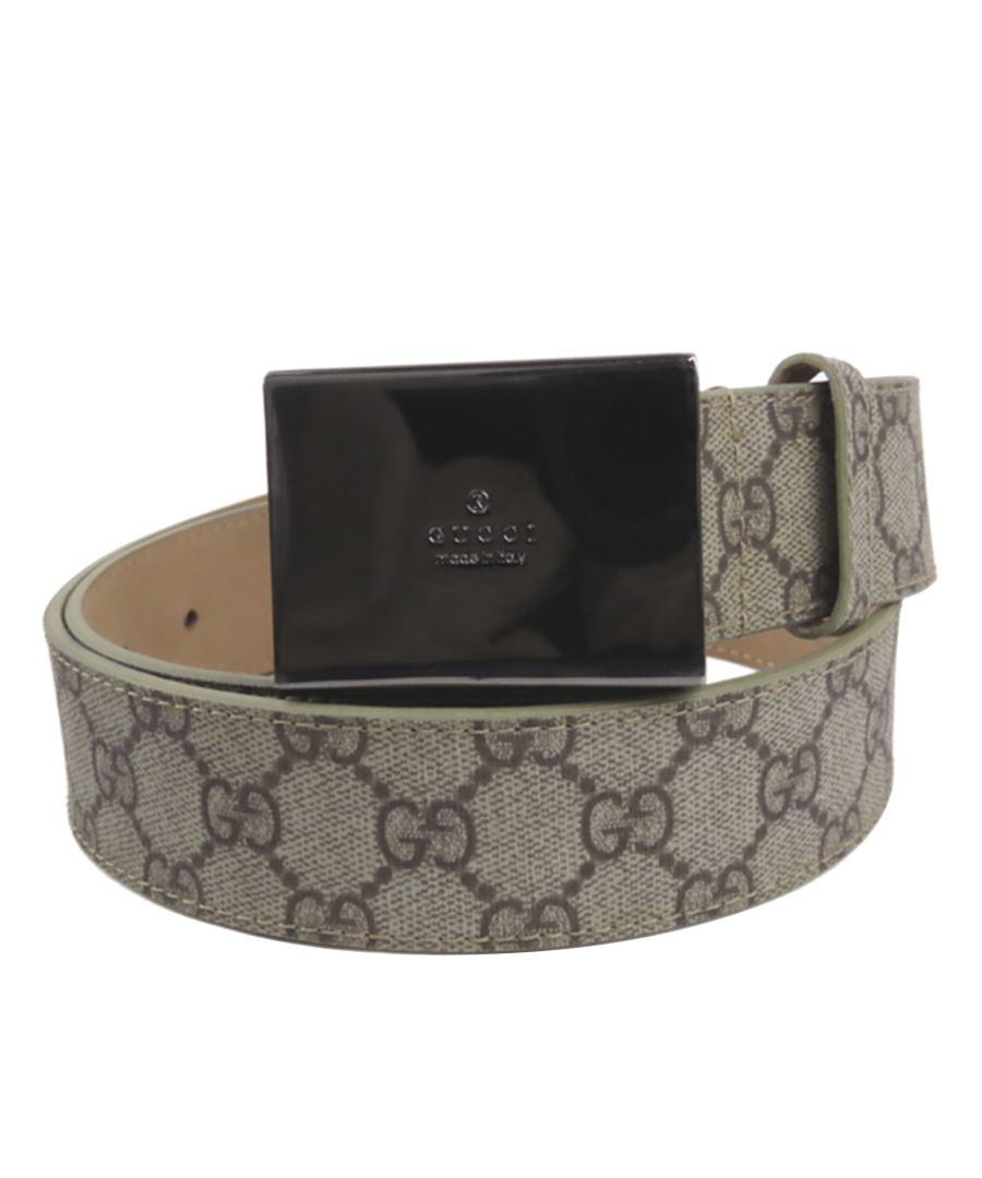 Image for Vintage Gucci GG Supreme Belt Brown