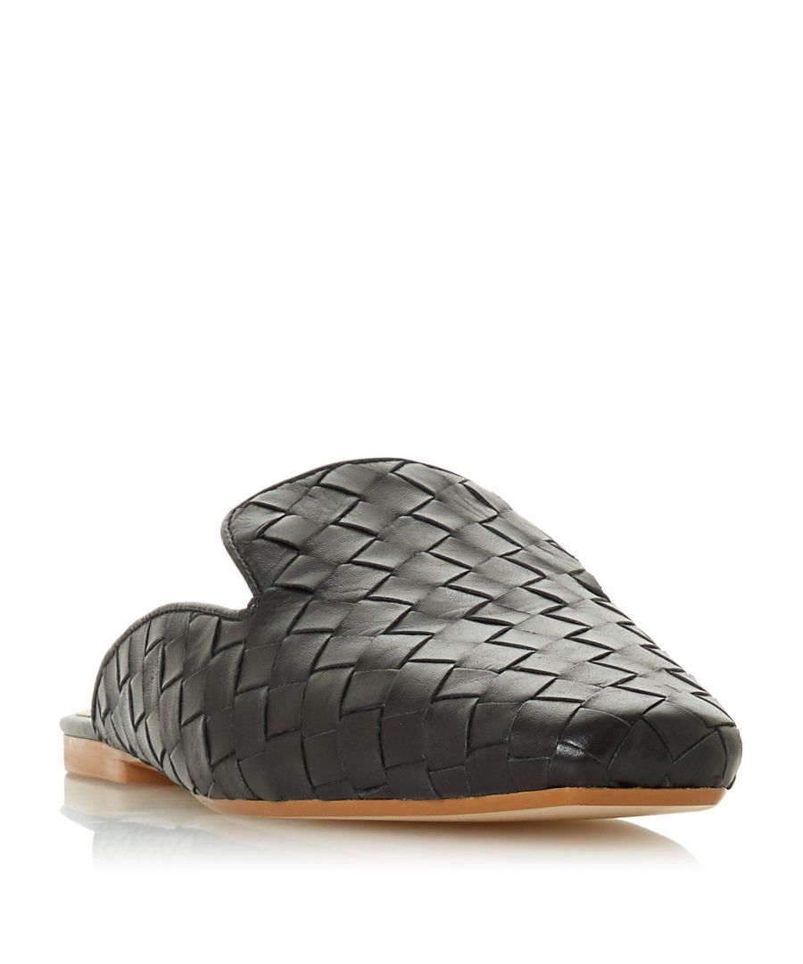 Image for Dune Ladies GWYNITH Woven Leather Flat Mule