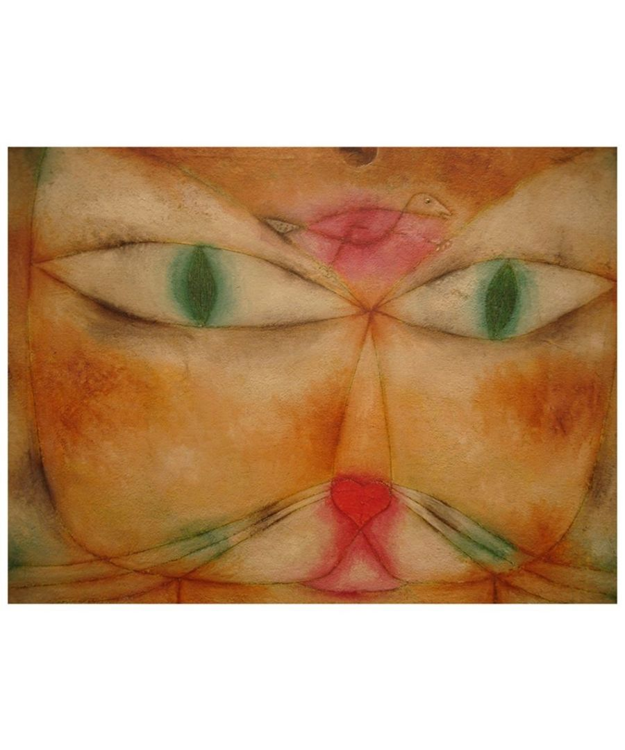 Image for Canvas Print - Cat And Bird - Paul Klee Cm. 60x80