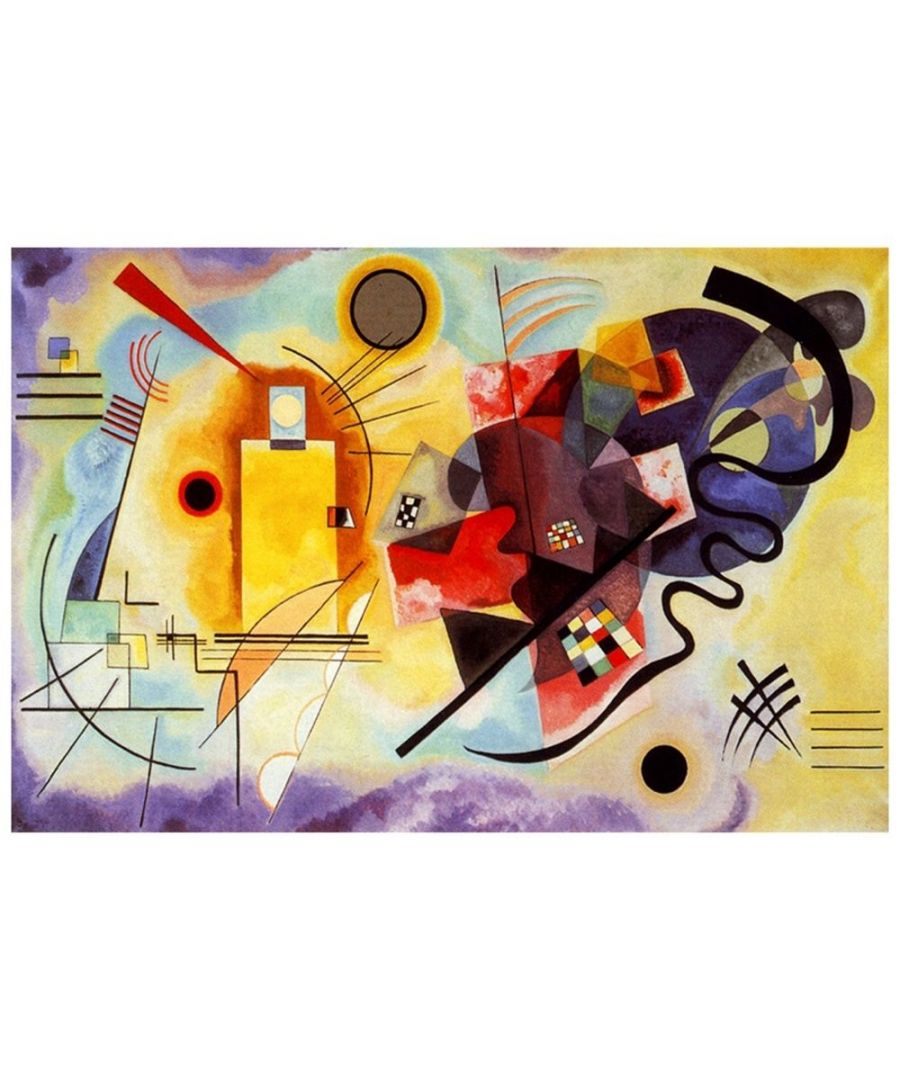 Image for Canvas Print - Yellow, Red, Blue - Wassily Kandinsky Cm. 60x90