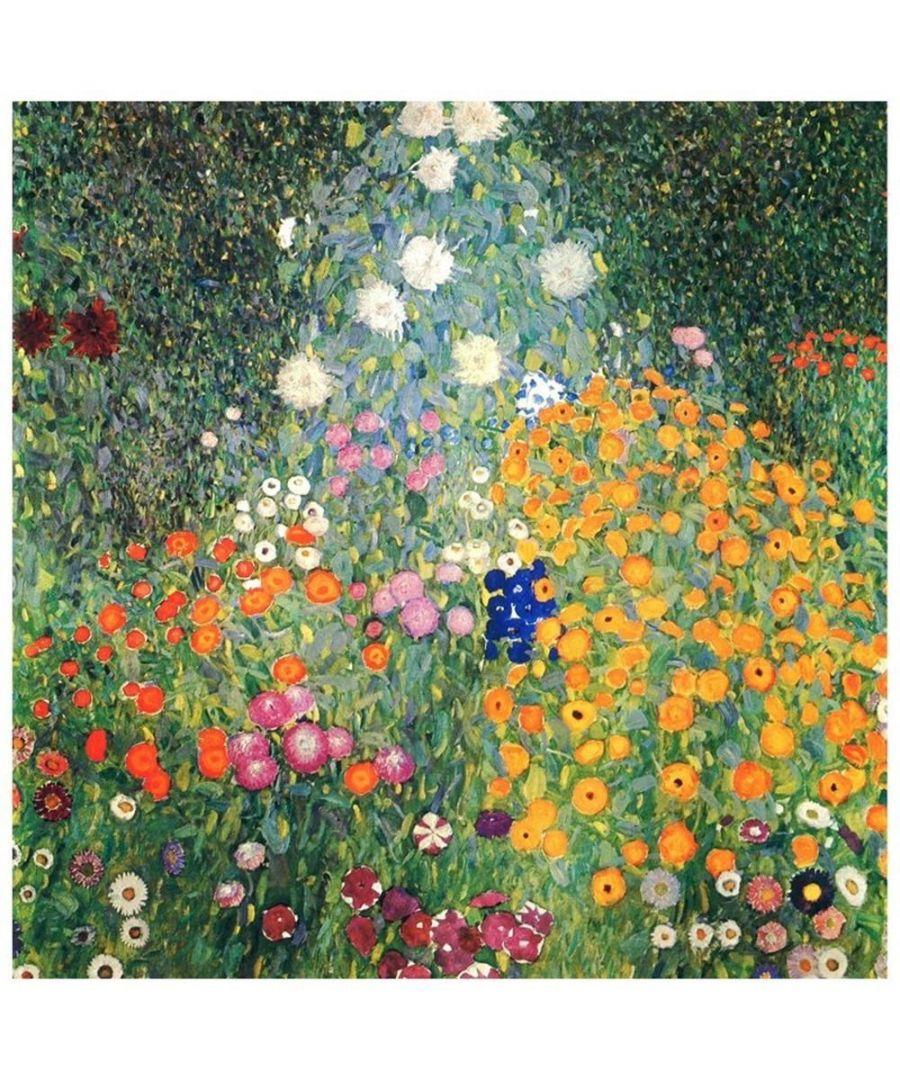 Image for Canvas Print - Flowers Garden - Gustav Klimt Cm. 60x60