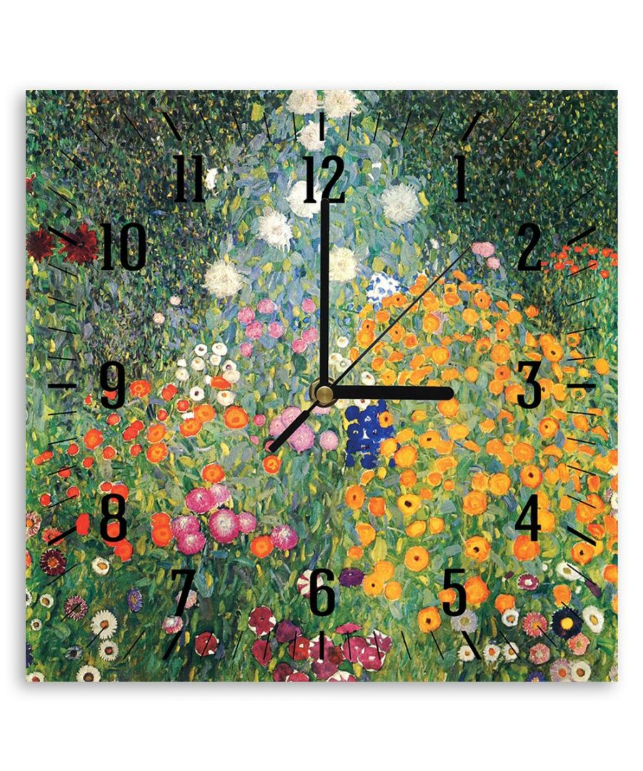 Image for Wall Clock - Flowers Garden - Gustav Klimt Cm. 30x30