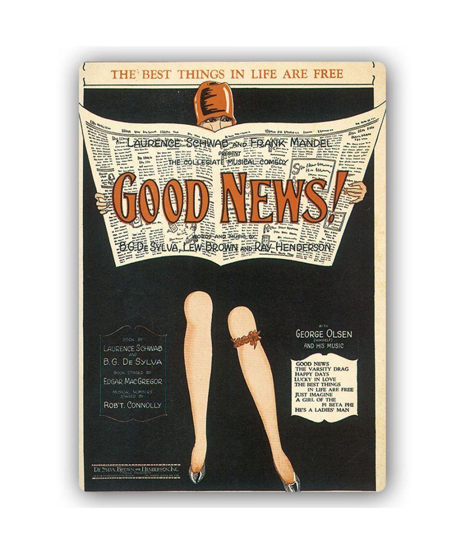 Image for Vintage Music Cover - Metal Print  - Good News!