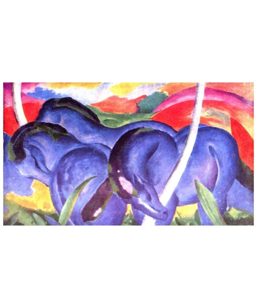 Image for Canvas Print - Big Blue Horses - Franz Marc Cm. 40x70