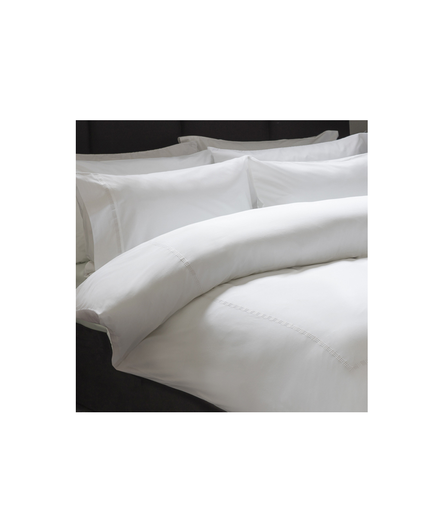 Image for Belledorm Greenwich Duvet Set White