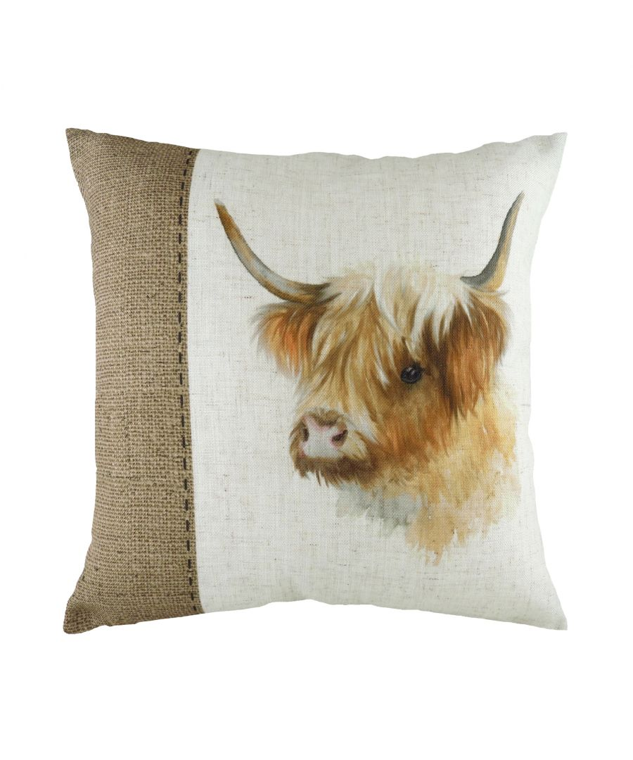Image for Hessian Cow Cushion