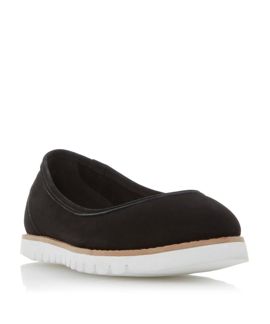 Image for Dune Ladies HADEN Cleated Contrasting Sole Flat Shoe