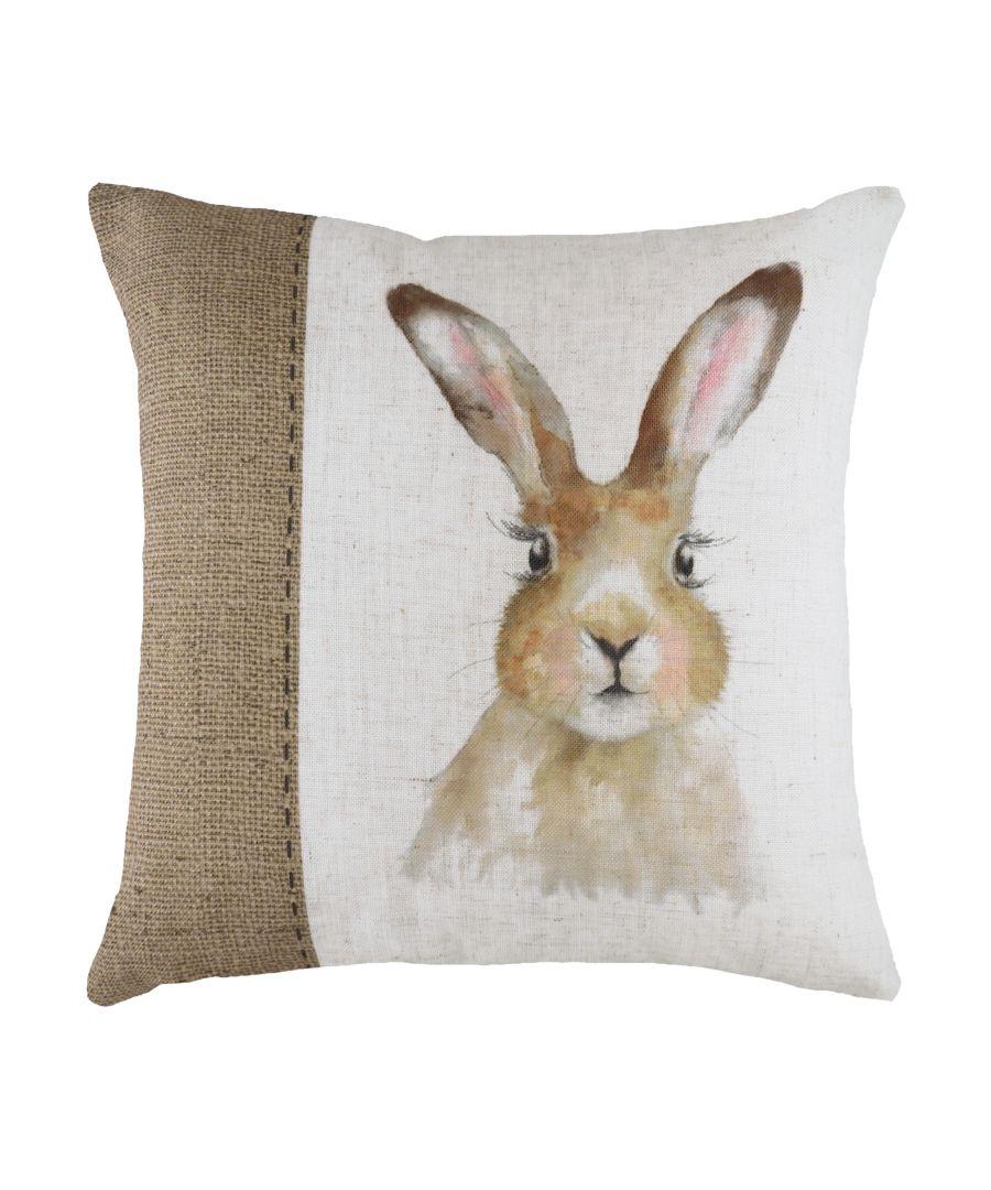 Image for Hessian Hare Cushion