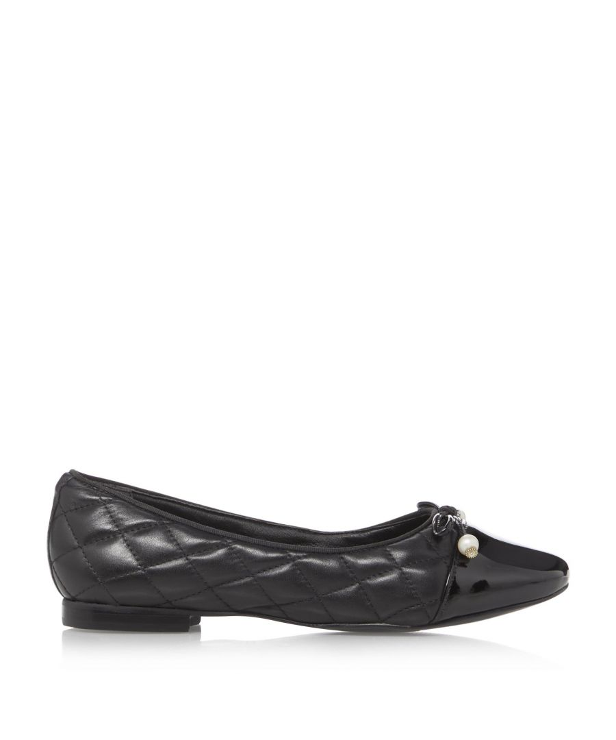 Image for Dune Ladies HAMMERSMITH Quilted Ballet Pumps