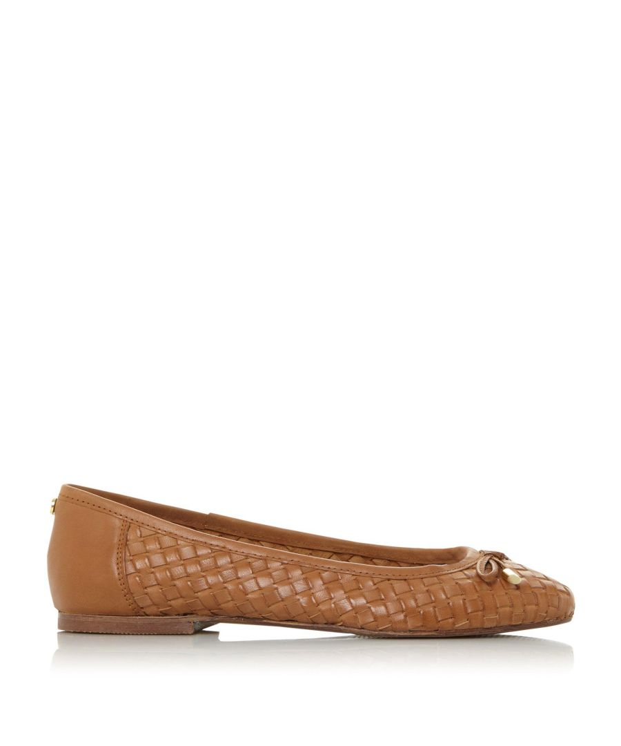 Image for Dune Ladies HAMPSTEAD XX Woven Ballerina Pumps