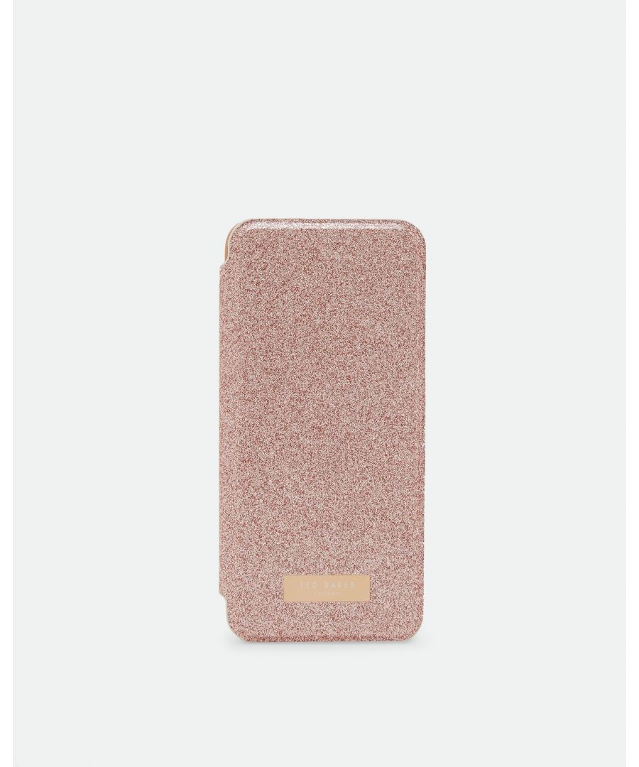 Image for Ted Baker Hanas Glitter Samsung 8 Mirror Case, Rose Gold