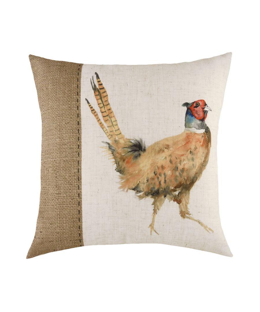 Image for Hessian Pheasant Cushion