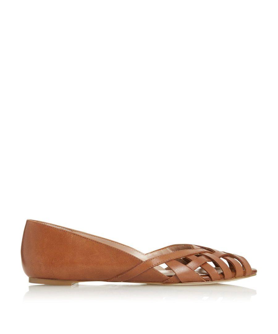 Image for Dune Ladies HARREL Cutwork Peep Toe Ballerina Pump