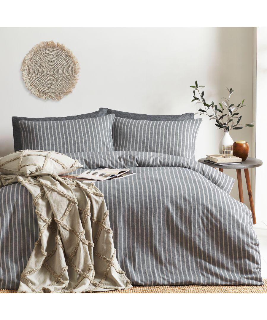 Image for Herringbone Stripe Duvet Set