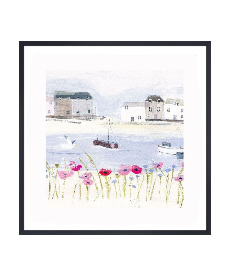 Image for Harbour Poppies Art Print by Hannah Cole