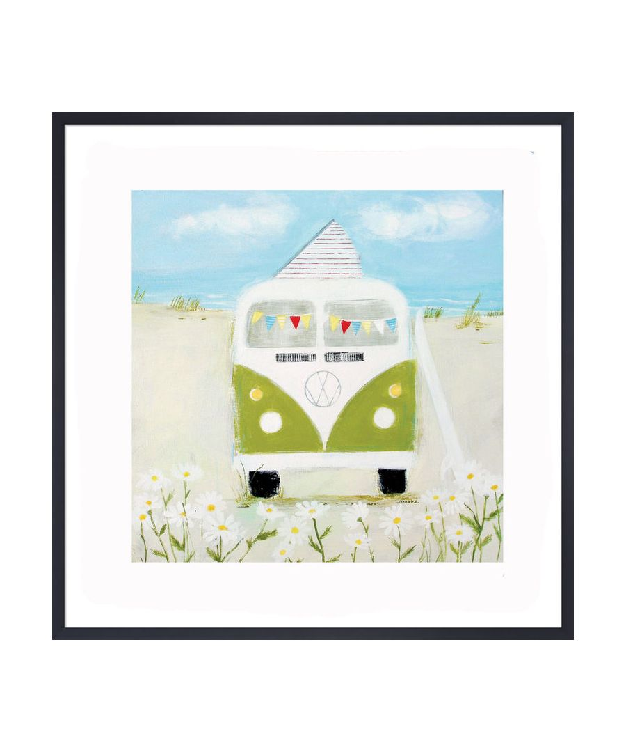 Image for Green Camper Art Print by Hannah Cole