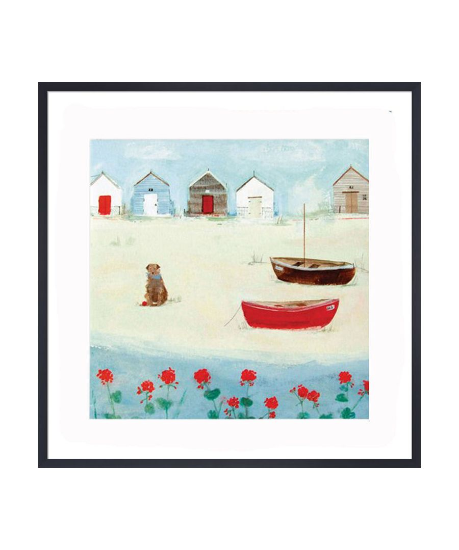 Image for The Red Boat Art Print by Hannah Cole