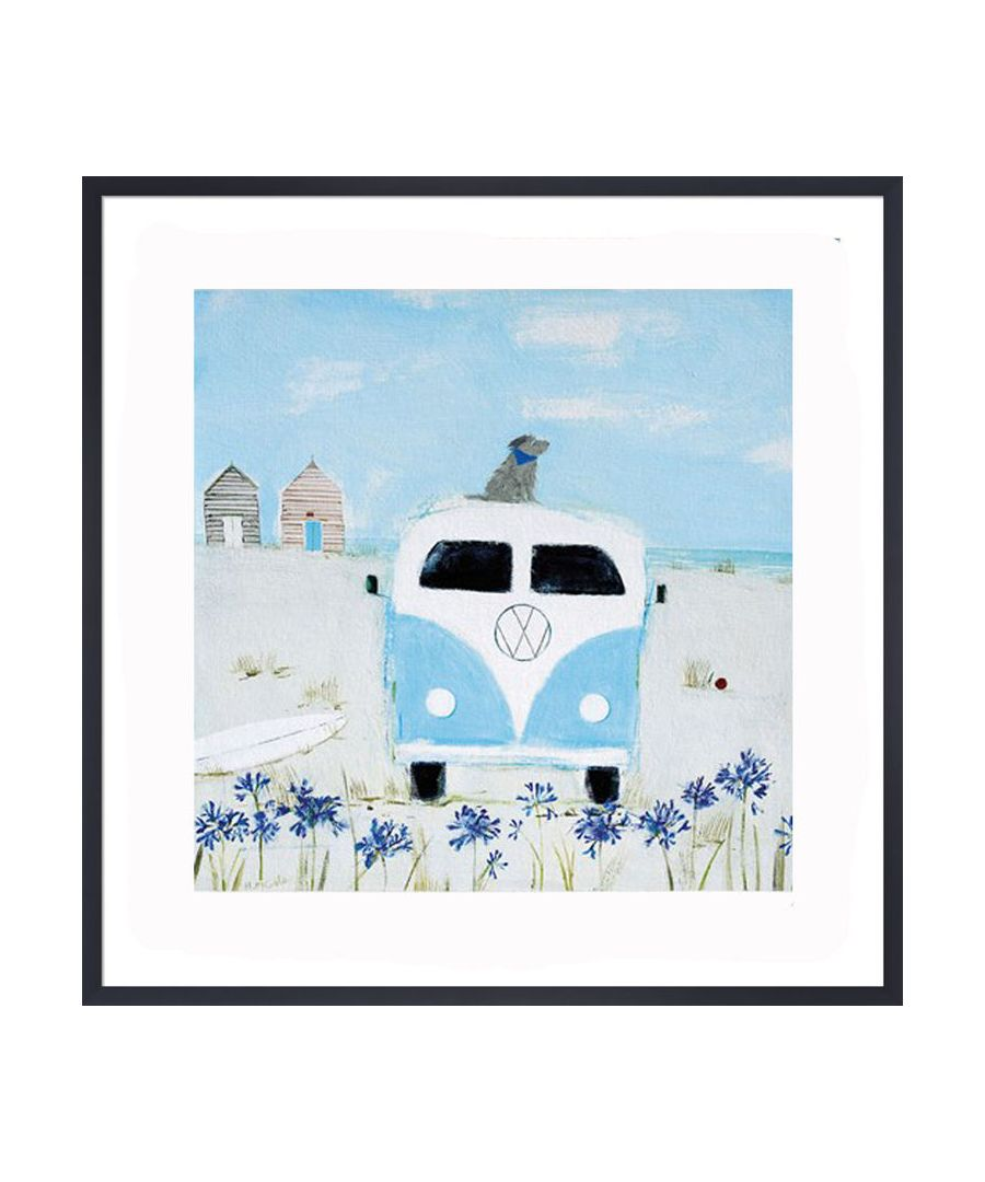 Image for Blue Camper Art Print by Hannah Cole