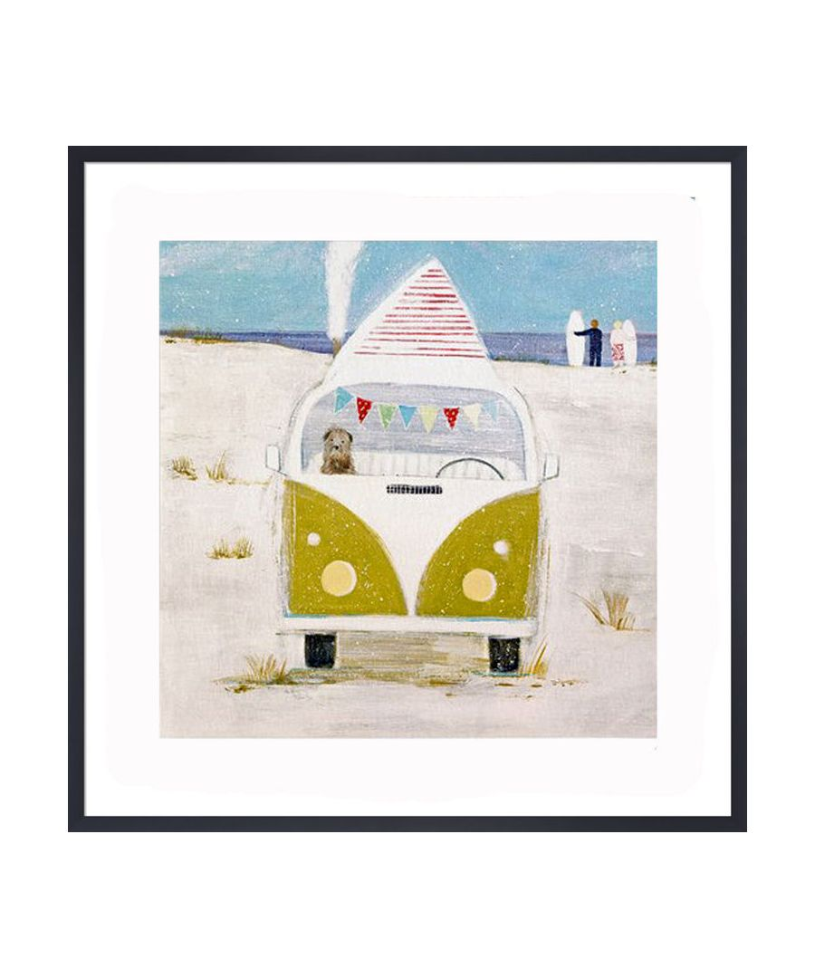 Image for Winter Surfers Art Print by Hannah Cole