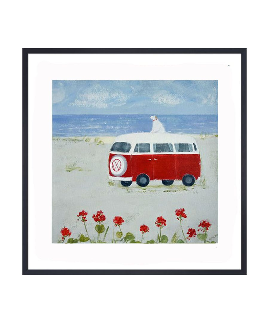 Image for Red Camper Art Print by Hannah Cole
