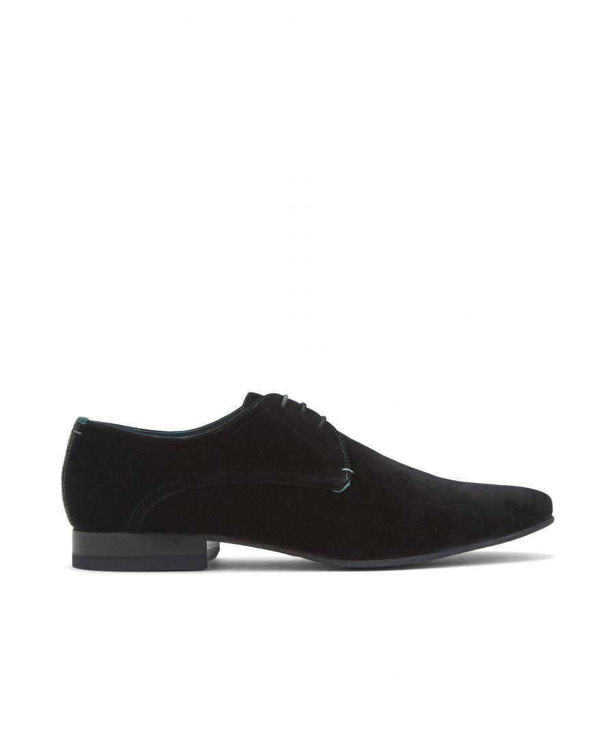 Image for Ted Baker Briade Modern Velvet Derby Shoe, Black