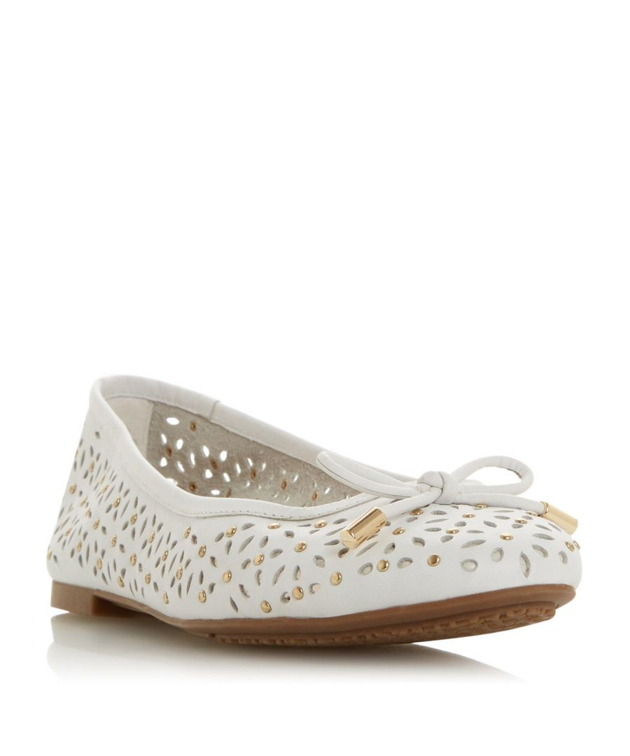 Image for Dune Ladies HELEINA Laser Cut Studded Ballet Pump