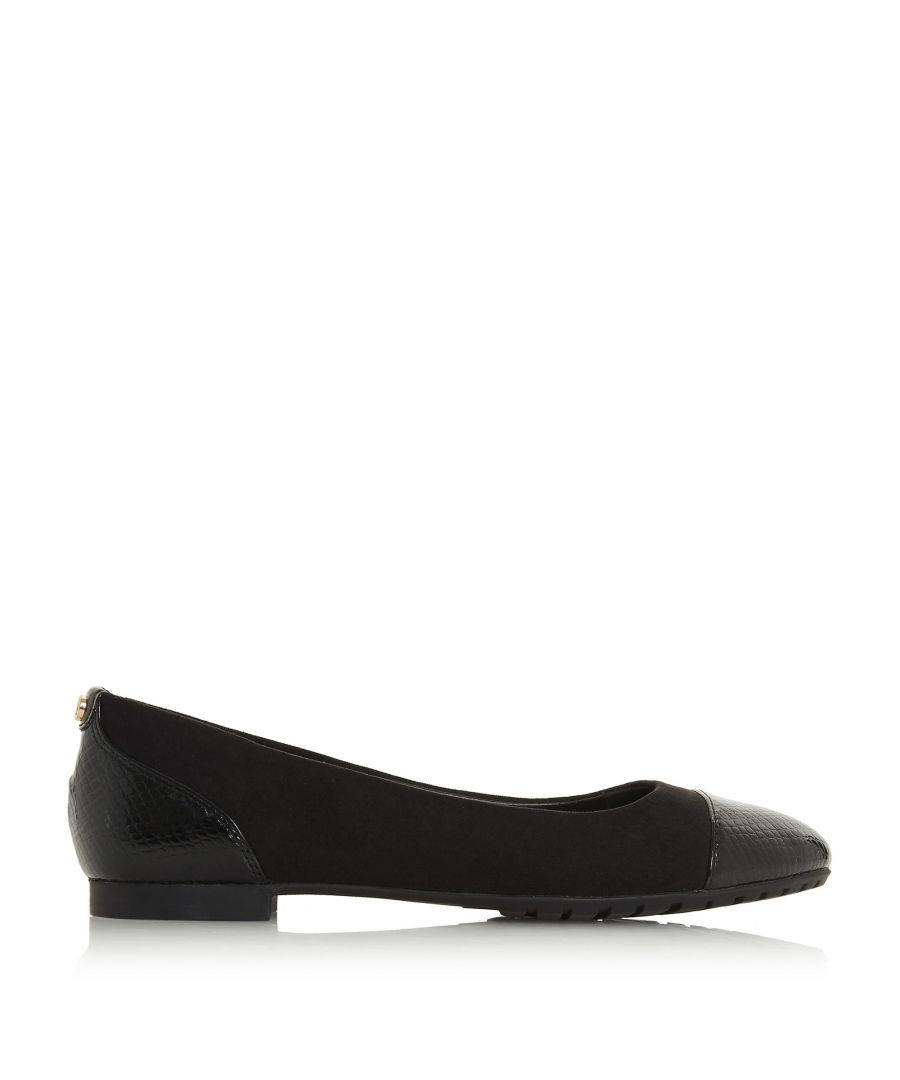 Image for Dune Ladies HENDRIX Toe Cap Ballerina Pump