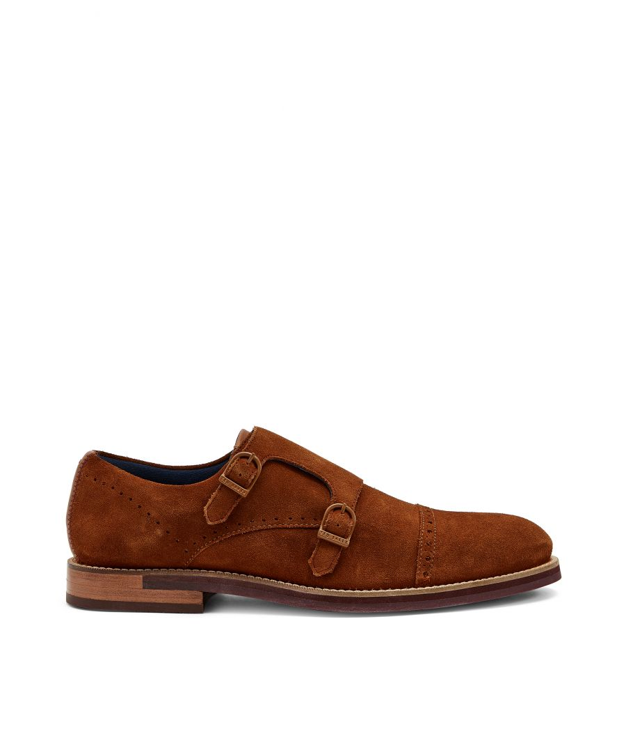 Image for Ted Baker Clinnte Double Buckle Monk Shoe, Tan