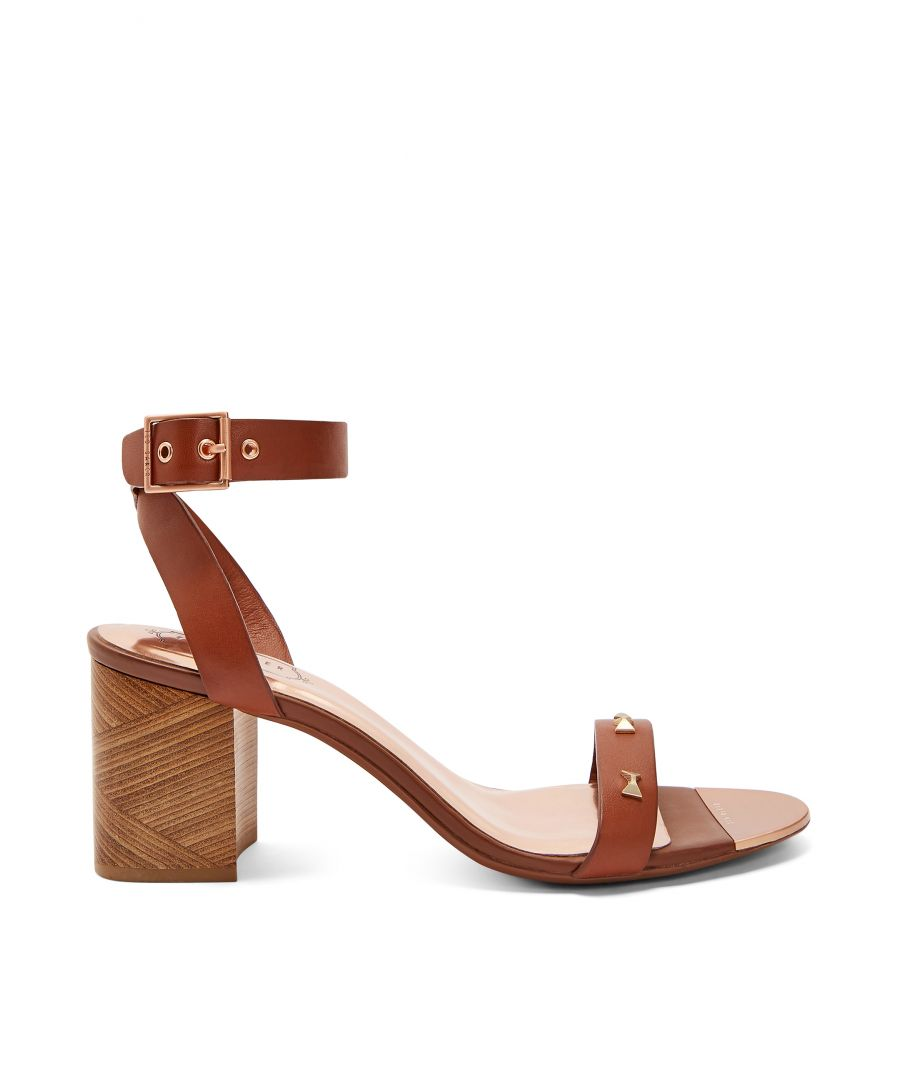 Image for Ted Baker Biah Studded Bow Detail Sandals, Tan